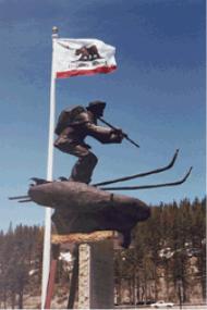 Snowshoe Thompson's statue