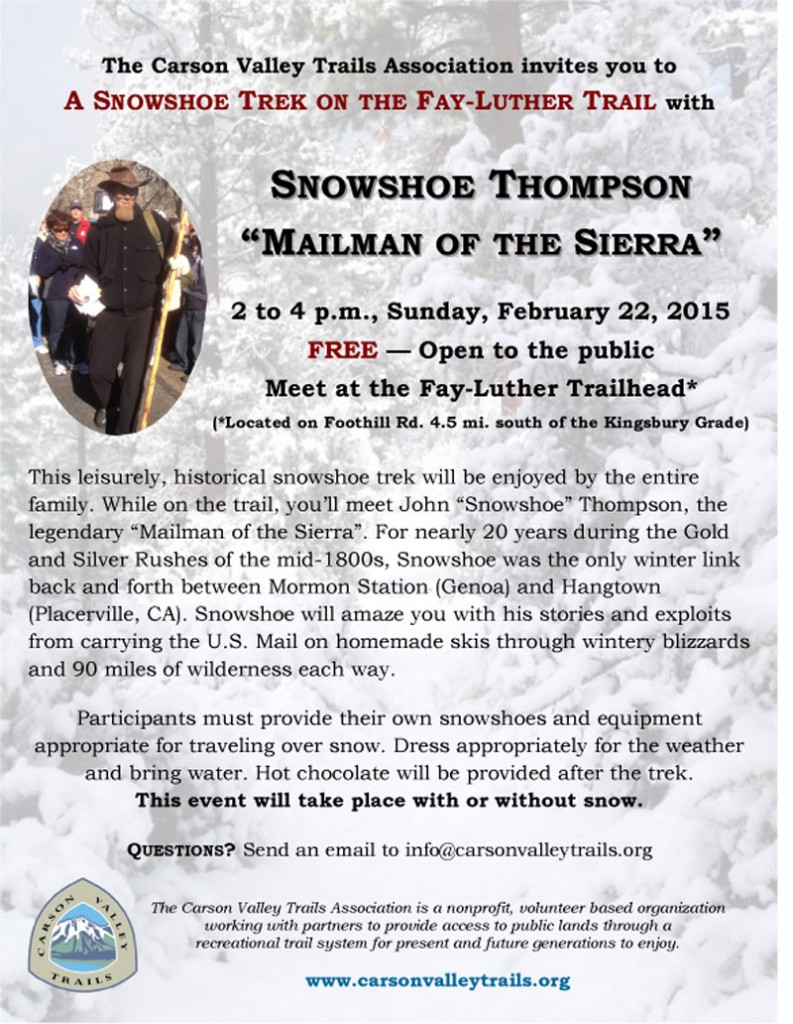 A SNOWSHOE TREK ON THE FAY-LUTHER TRAIL