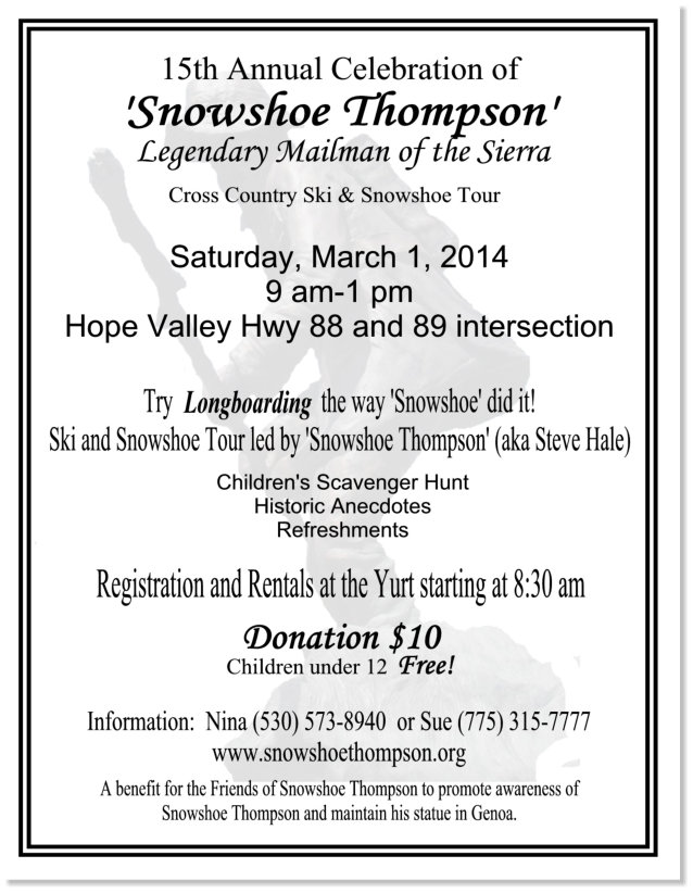 15th annual Snowshoe Thompson Celebration