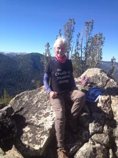 Nina MacLeod on Thompson Peak
